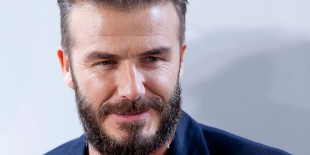 David Beckham Beard Face