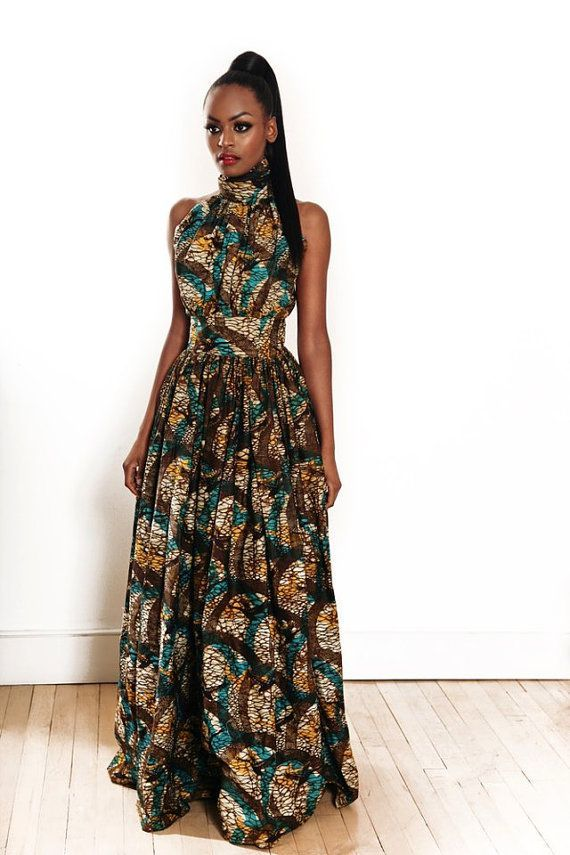 Dress in African Fabric by MelangeMode on ...