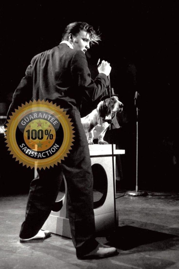 ELVIS PRESLEY & HOUND DOG Rehearsing Steve Allen TV 1956 RARE Candid! BW fro/neg | eBay