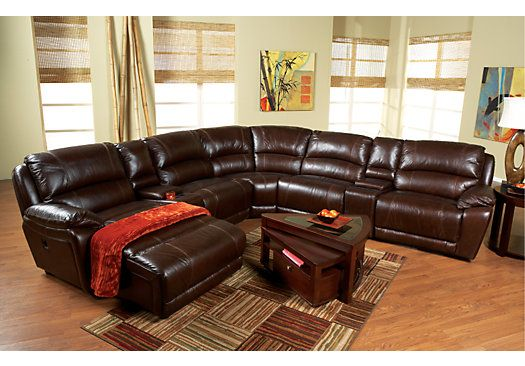 Shop for a Cindy Crawford Home San Marcello Blended Leather 9 Pc Sectional Living Room Plus HDTV at Rooms To Go. Find Living Room Sets that will look great in your home and complement the rest of your furniture.