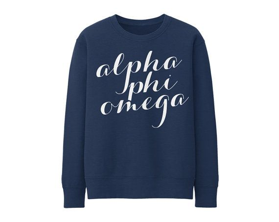 APhiO // Alpha Phi Omega // Script // Choose Your Colors // Fraternity Sweatshirt