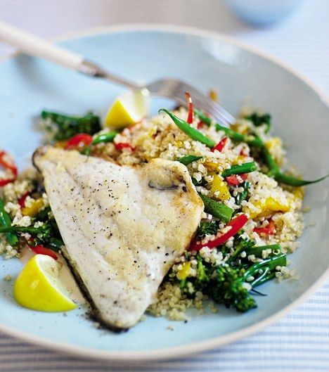Quinoa with grilled Sea Bream (Clean and Lean)