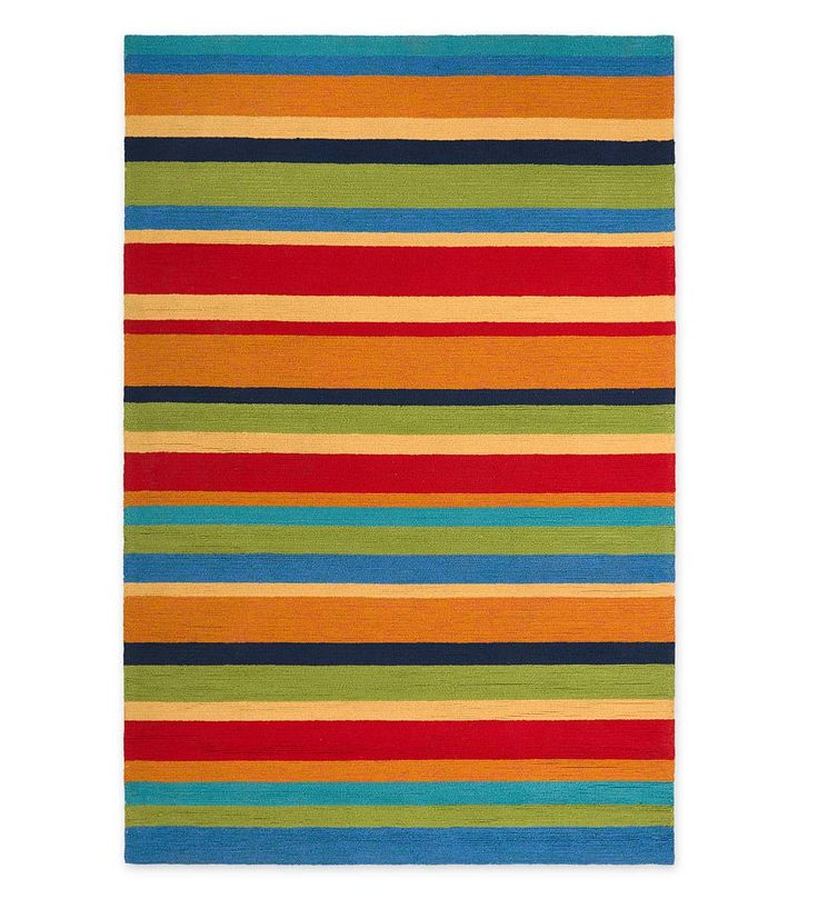 Our Exclusive Fiesta Stripe Rug Makes A Bright, Bold Statement In Any  Outdoor Space. Cheerful Bands Of Blue, Green, Orange, Yellow And Red Create  A Sunny ...