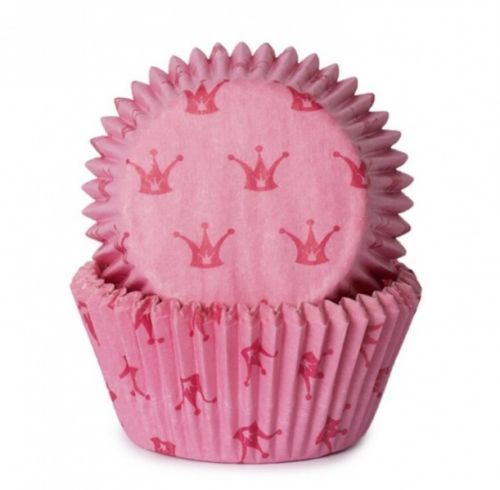 Cupcakes muffinsformerprinsessekrone 50-pk. Passer fint til dåp, navnefest, babyshower og bursdag.