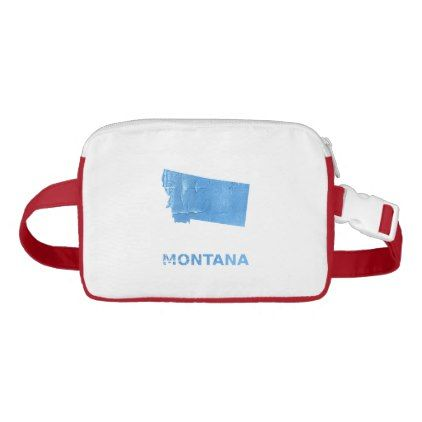 Montana map outline Blue Jeans watercolor Fanny Pack - watercolor gifts style unique ideas diy
