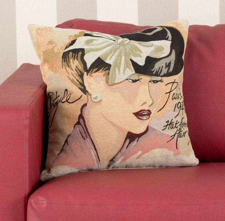 Poszewka Woman from Paris 40x40cm #pillows #art