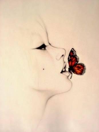 ♥ღ ♫♥ Butterfly Kisses   Love Quotes   Pinterest   Drawings, Art and Portrait