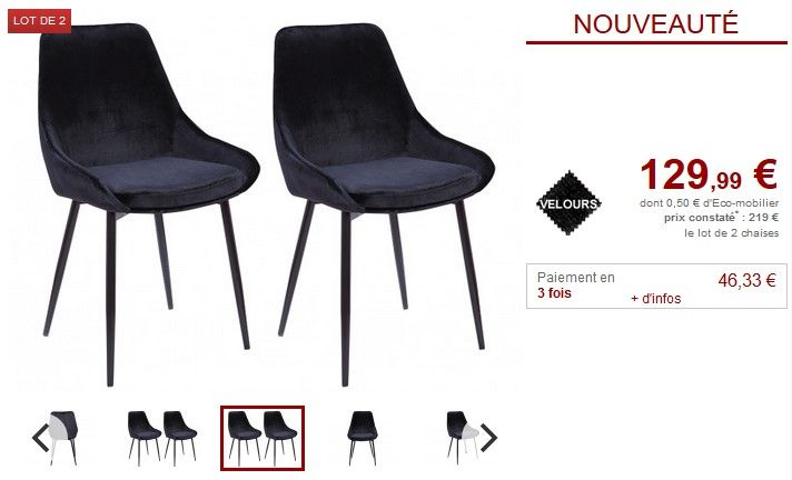 lot de 2 ou 6 chaises gondole masurie