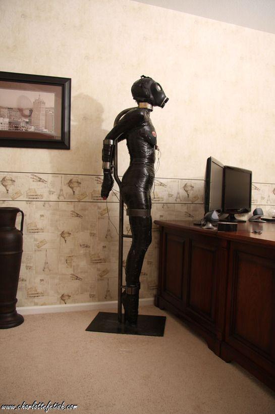 Latex office bondage