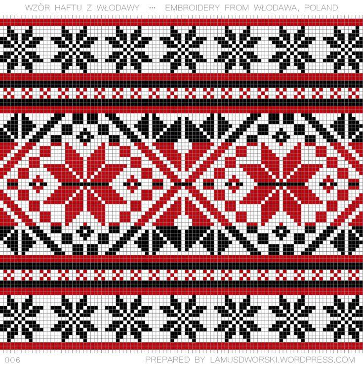 Polish embroidery from Włodawa. See more at lamusdworski.wordpress.com