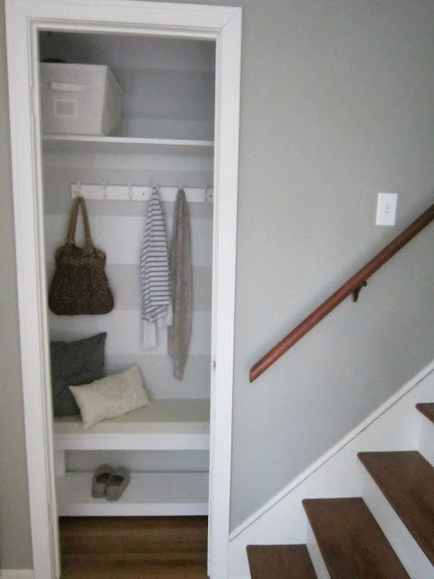 Love this close!  It includes a low coat hanger on the right side for kids' coats