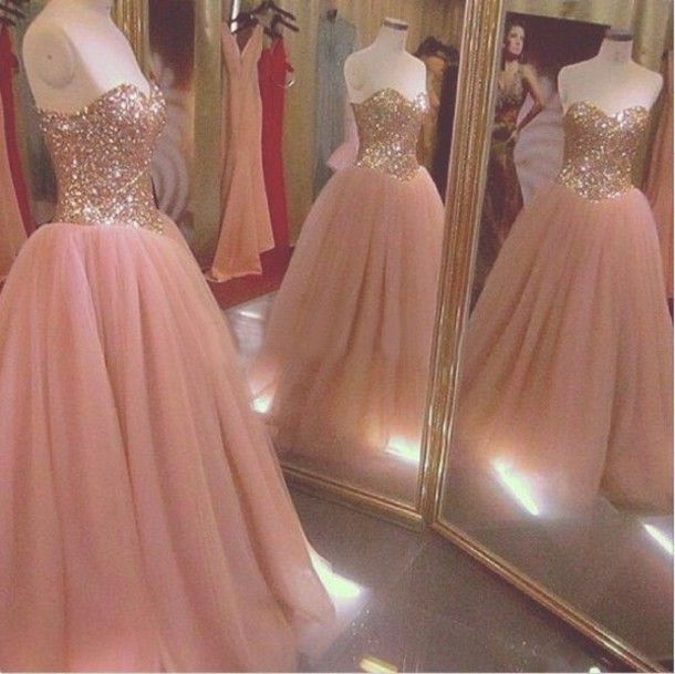 Pink Sweetheart A Line Prom Dress ,Custom Made
