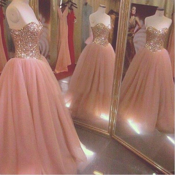 Estilo único vestidos rosa de ouro lantejoulas vestido de princesa Plus Size vestido de baile 200 doce 16 vestido