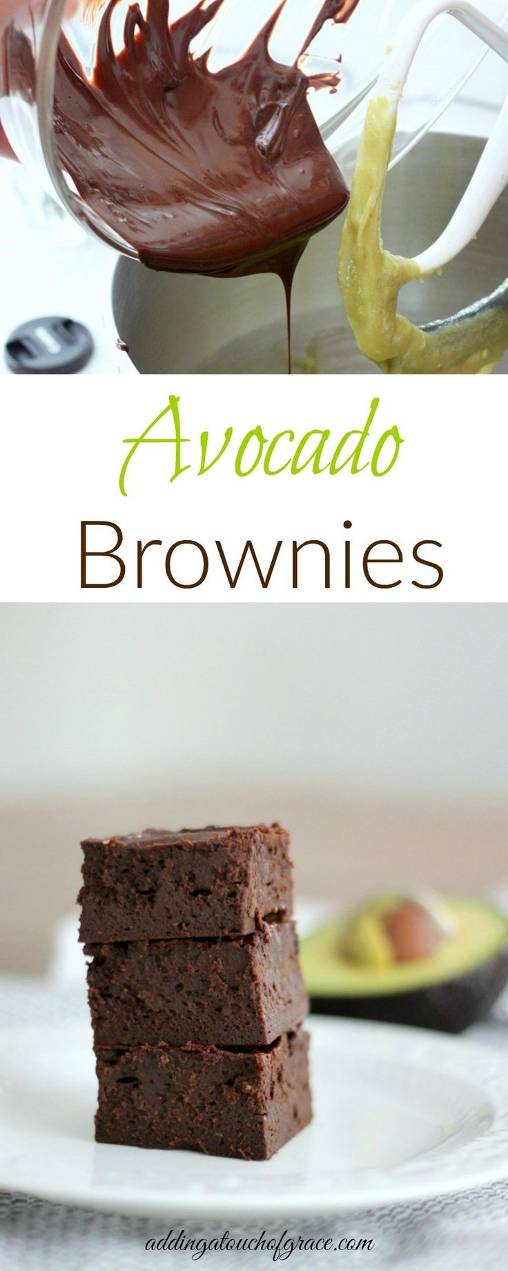 These fudgy avocado brownies are dense and moist and full of chocolate flavor!