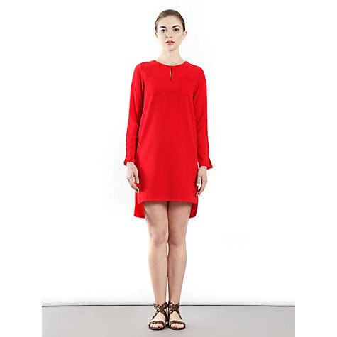 £35 Buy Paisie Long Sleeve Pocket Dress, Red Online at johnlewis.com