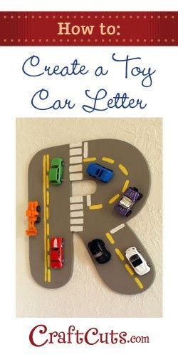 Use toy cars to create a whimsical monogram! | CraftCuts.com
