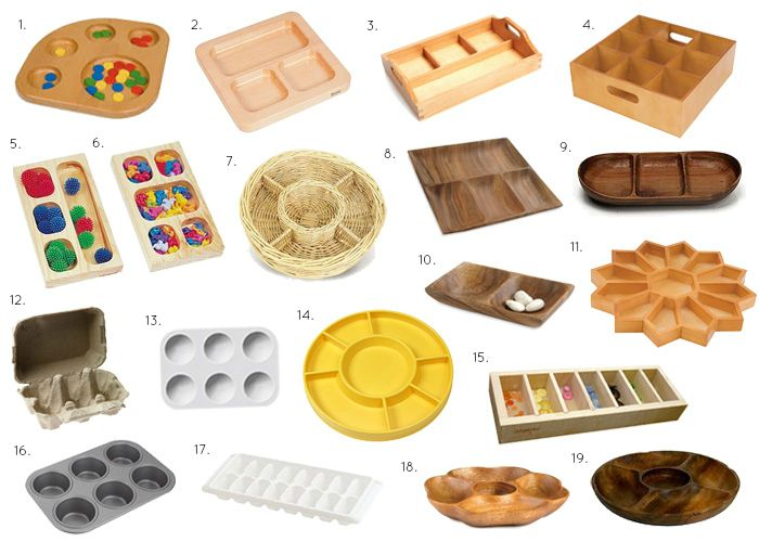 How we Montessori - Sorting Baskets and Trays
