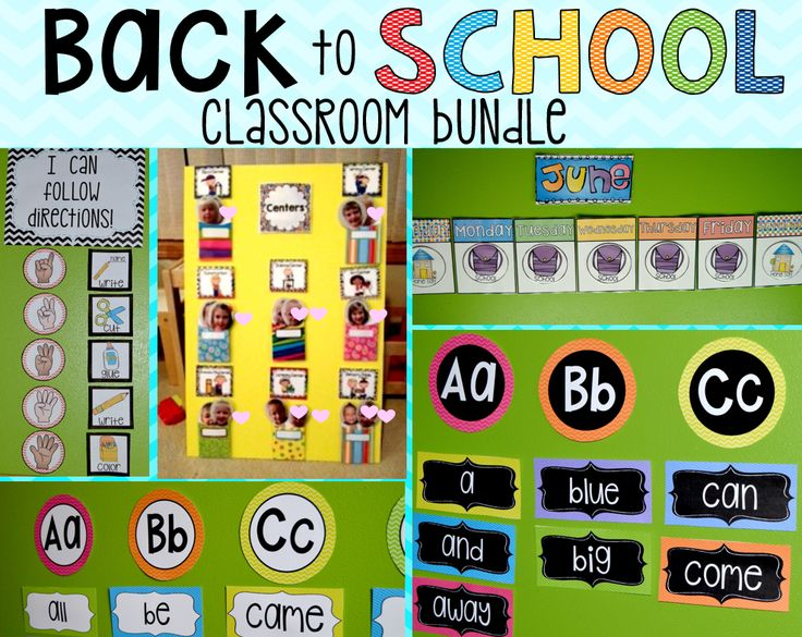 Kindergarten Calendar Center : Back to school classroom bundle preschool calendar