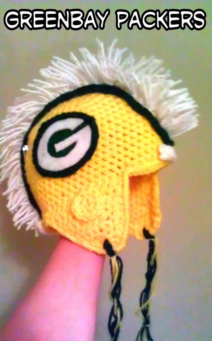 140 best nfl crochet images on pinterest cards carpets and cool helmet mohawk beanie of your favorite nfl team greenbay packers 5000 via etsy bankloansurffo Choice Image