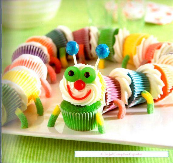 Caterpillar Cupcakes - Birthday party idea - super cute