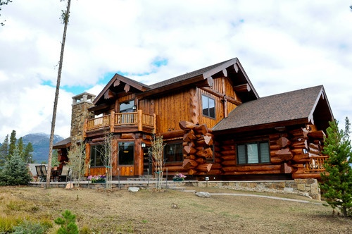 Western Red Cedar Ranch Style Log Home Log Homes And