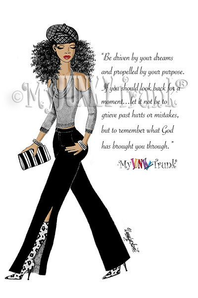 African American Art Natural Hair Afro Black Woman by MyJunkyTrunk