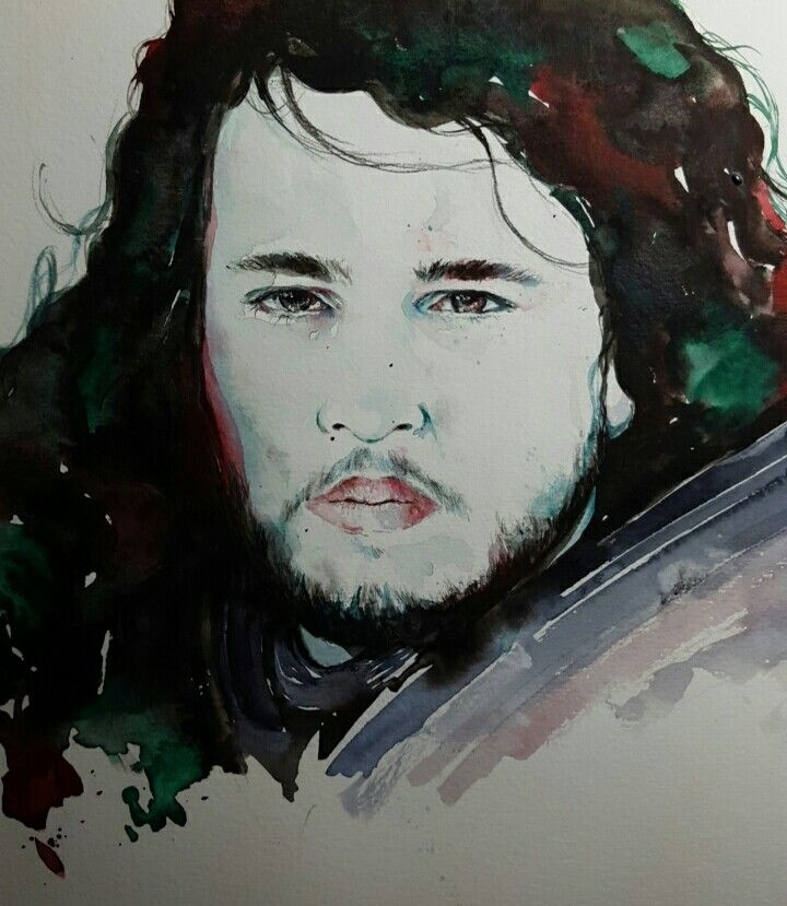 Jon Snow - Watercolor
