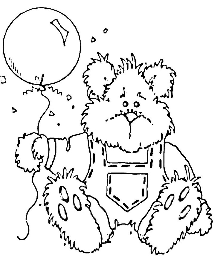 99 best Coloring pages Teddy Bears