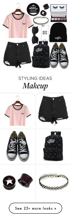 """""""My First Polyvore Outfit"""" by animemonstergirl on Polyvore featuring Converse, Vans and NOVICA"""