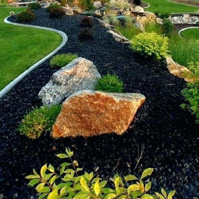 Black Landscape Rock