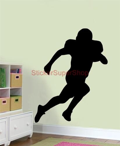 American Football Player Silhouette Decal Removable Wall Sticker Home Decor Art Ebay Footballfortheladies