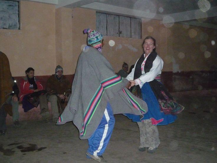 Dancing with islanders on Amantani, Lake Titicaca  #twirl #laketiticaca #dance #locals