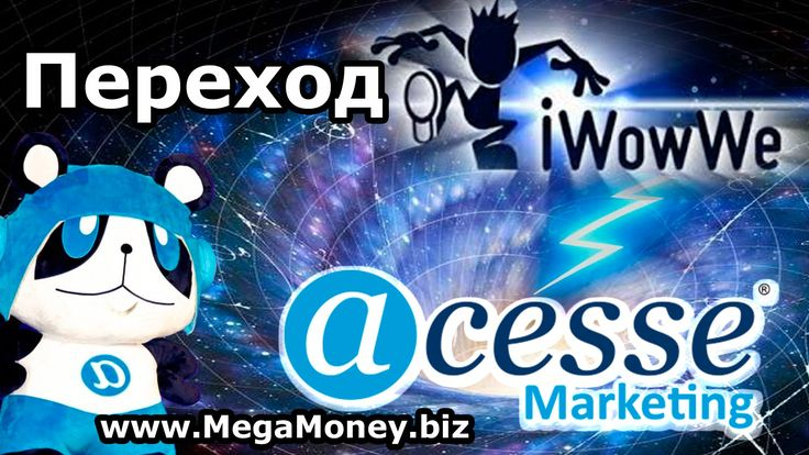Регистрация из #iWowWe в #Acesse #Marketing