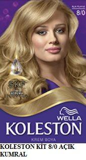 Koleston 2017 Saç Renk Kartelası - Koleston açık kumral saç boyası
