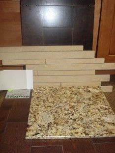 Dark Granite Countertops With Oak
