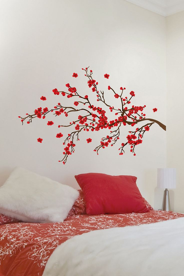 Wallpops By Jonathan Adler Red Branches Wall Decal