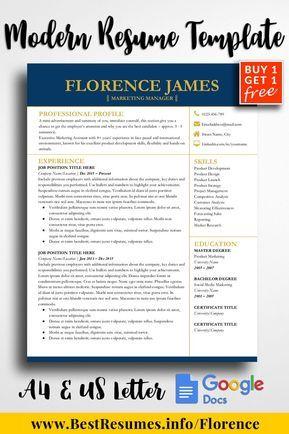 Resume Template Florence James App for MAC - Resume Pinterest