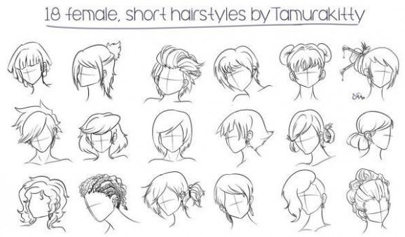 Girl Hairstyle Reference In 2020 Manga Hair Female Anime Hairstyles Hair Sketch