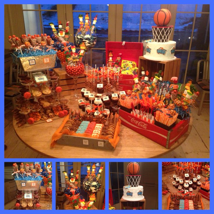 Basketball Themed Sweet Table And Custom Cake By Bella