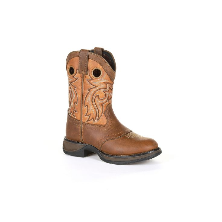 Lil Rebel by Durango Brown Saddle Kids Western Boots, Kids Unisex, Size: 6.5
