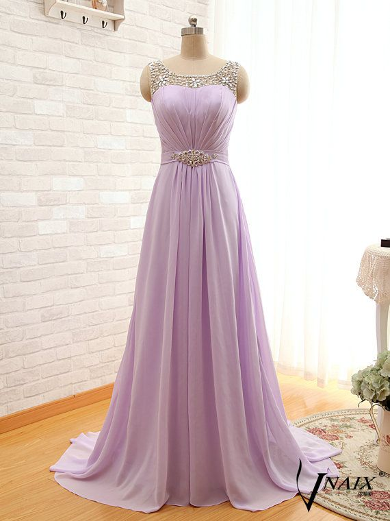 2015 New Arrival A Line Purple Evening Dress by VnaixBridal