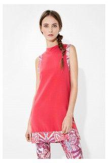 Desigual růžové sportovní šaty L Sweat Dress P Paisley - 1599 Kč