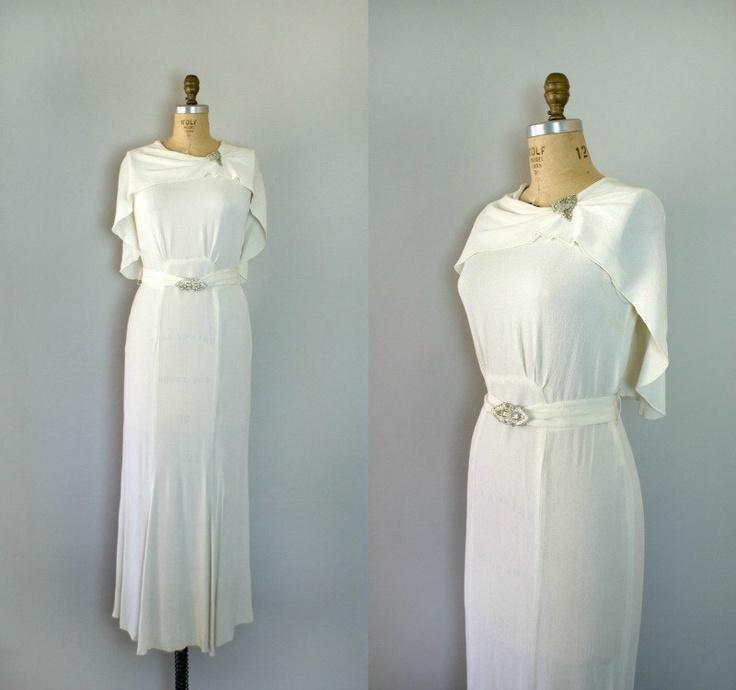 Vintage 1930s Wedding Gown.