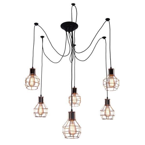 LAMPA wisząca VERIN 36-43092 Candellux industrialna OPRAWA druciana zwis IP20 retro drut miedziany