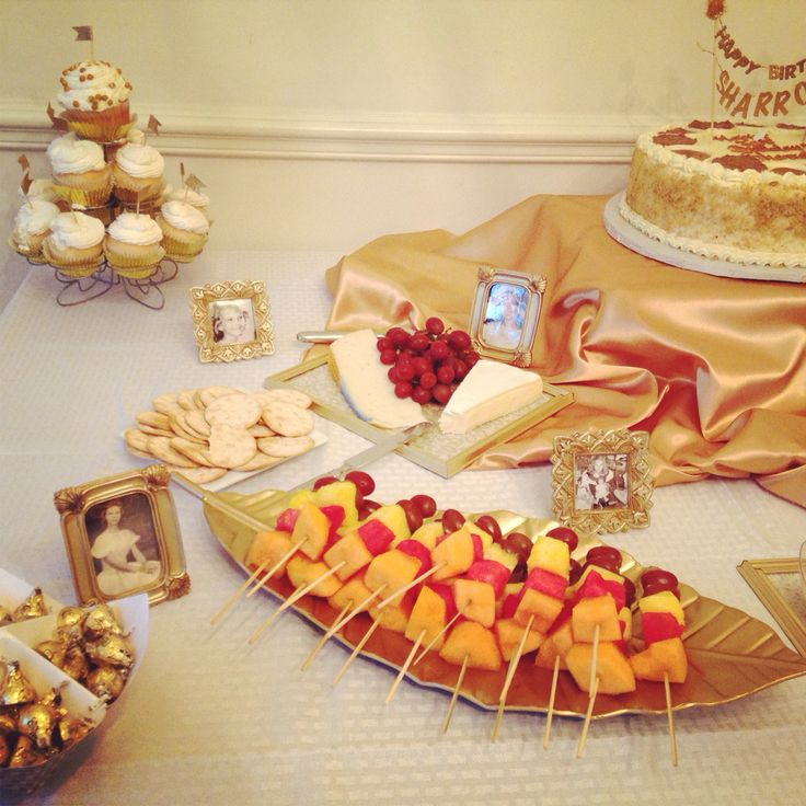 Main Table Party Decoration Gold And Ivory My Work DIY