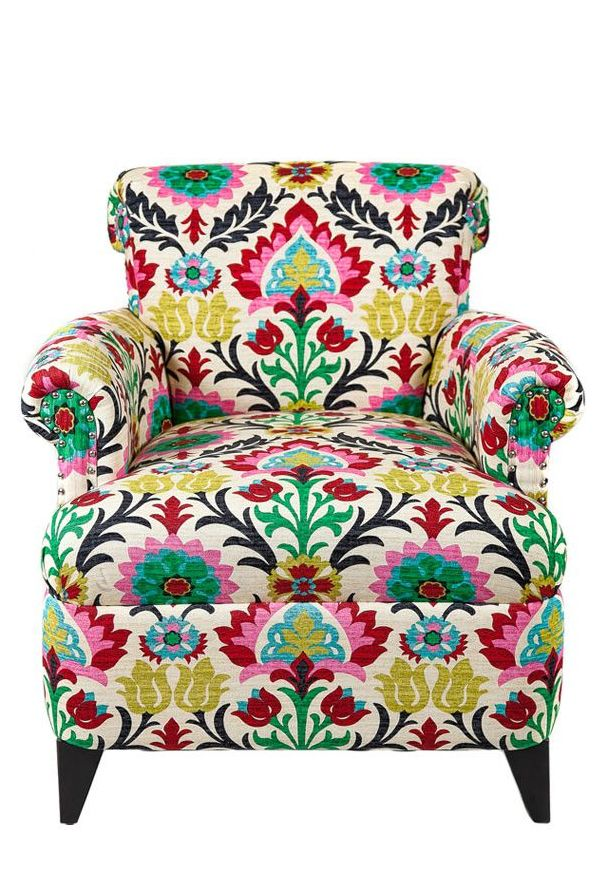 Boho floral upholstery arm chair #furniture_design