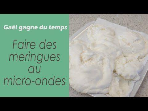 L'astuce pour faire des meringues au micro-ondes - YouTube