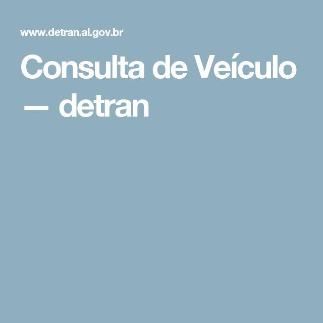Consulta de Veículo — detran