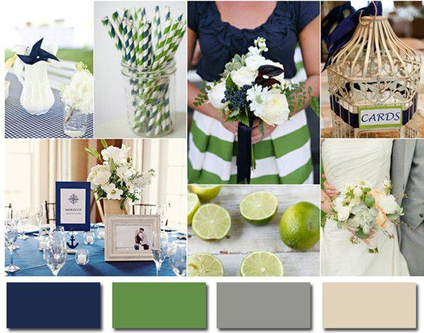 navy blue and lime green wedding ideas 2014 wedding colors #elegantweddinginvites