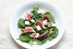 Spinazie salade met geitenkaas